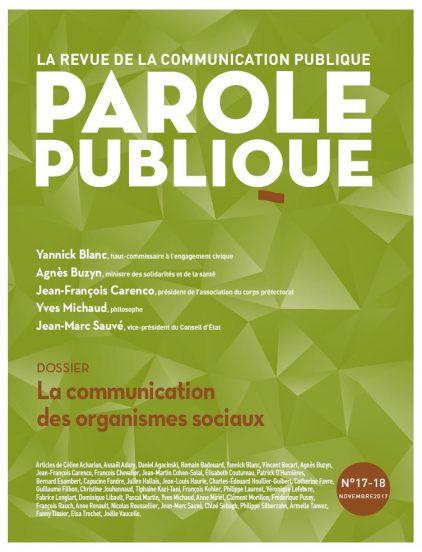 Revue Parole Publique - n°17-18