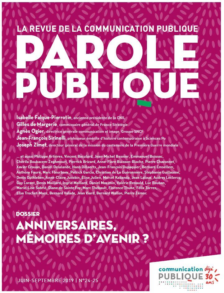 Revue Parole Publique - n°24-25