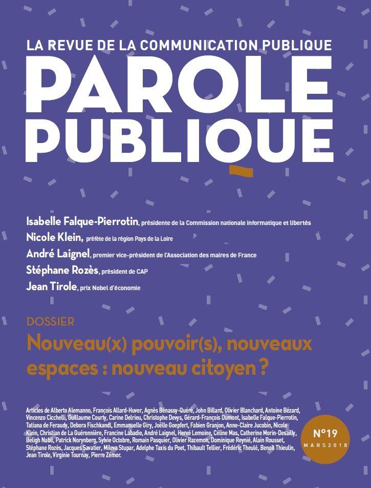 Revue Parole Publique - n°19